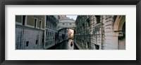 Framed Bridge on a canal, Bridge Of Sighs, Grand Canal, Venice, Italy