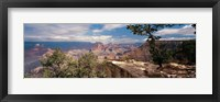 Framed Rock formations in a national park, Mather Point, Grand Canyon National Park, Arizona, USA