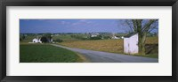 Framed Road through Amish Farms, Pennsylvania