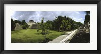 Framed Old ruins of a temple in a forest, Xunantunich, Belize