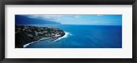 Framed High angle view of an island, Ponta Delgada, Madeira, Portugal