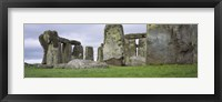Framed Rock formations of Stonehenge, Wiltshire, England