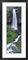 Framed Waterfall in a forest, Sass Grund, Switzerland