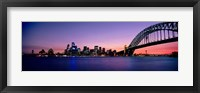 Framed Bridge across the sea, Sydney Opera House, Sydney Harbor Bridge, Milsons Point, Sydney, New South Wales, Australia