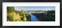 Framed Bridge across a river, Clifton Suspension Bridge, Avon Gorge, Bristol, England