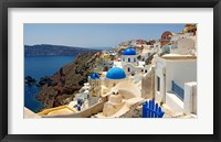 Framed High angle view of a church, Oia, Santorini, Cyclades Islands, Greece