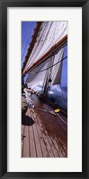 Framed Sailboat in the sea, Antigua (vertical)