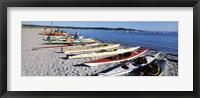 Framed Kayaks on the beach, Third Beach, Sakonnet River, Middletown, Newport County, Rhode Island (horizontal)