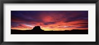 Framed Buttes at sunset, Chaco Culture National Historic Park, New Mexico, USA