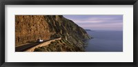 Framed Car on the mountainside road, Mt Chapman's Peak, Cape Town, Western Cape Province, South Africa