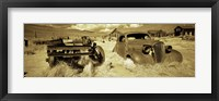 Framed Abandoned car in a ghost town, Bodie Ghost Town, Mono County, California, USA