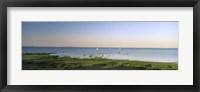 Framed Panoramic view of a lake, Lake Victoria, Great Rift Valley, Kenya