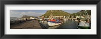Framed Fishing boats at a harbor, Kalk Bay, False Bay, Cape Town, Western Cape Province, South Africa