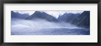 Framed Rolling waves and mountains, Tahiti, French Polynesia