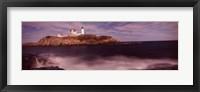 Framed Lighthouse on the coast, Nubble Lighthouse, York, York County, Maine