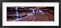Framed Stream flowing through rocks, North Creek, Utah