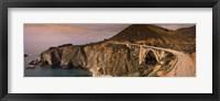 Framed Bridge on a hill, Bixby Bridge, Big Sur, California, USA