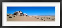 Framed Abandoned house in a mining town, Kolmanskop, Namib desert, Karas Region, Namibia