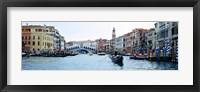 Framed Buildings at the waterfront, Rialto Bridge, Grand Canal, Venice, Veneto, Italy