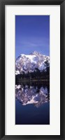 Framed Reflection of Mt Shuksan, Picture Lake, North Cascades National Park, Washington State (vertical)