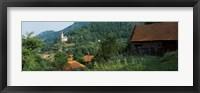 Framed Houses at the hillside, Transylvania, Romania