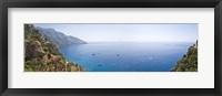 Framed Town at the coast, Positano, Amalfi Coast, Salerno, Campania, Italy