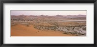 Framed Panoramic view of sand dunes viewed from Big Daddy Dune, Sossusvlei, Namib Desert, Namibia
