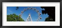 Framed Prater Park Ferris wheel, Vienna, Austria