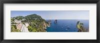 Framed Boats in the sea, Faraglioni, Capri, Naples, Campania, Italy
