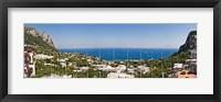 Framed Town at the waterfront, Marina Grande, Capri, Campania, Italy