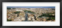 Framed Overview of the historic centre of Rome from the dome of St. Peter's Basilica, Vatican City, Rome, Lazio, Italy