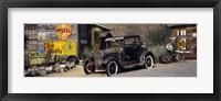 Framed Abandoned vintage car at the roadside, Route 66, Arizona