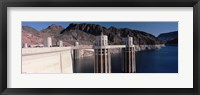 Framed Dam on the river, Hoover Dam, Colorado River, Arizona, USA