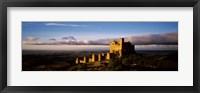 Framed Castle on a hill, Loarre Castle, Huesca, Aragon, Spain
