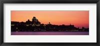 Framed City at dusk, Chateau Frontenac Hotel, Quebec City, Quebec, Canada