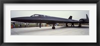 Framed Lockheed SR-71 Blackbird on a runway