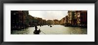 Framed Gondolas in the canal, Grand Canal, Venice, Veneto, Italy