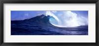 Framed Waves splashing in the sea, Maui, Hawaii, USA
