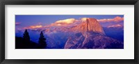Framed Sunlight falling on a mountain, Half Dome, Yosemite Valley, Yosemite National Park, California, USA
