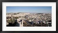 Framed House on a hill, Mount of Olives, and City of David, Jerusalem, Israel
