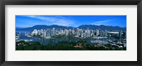 Framed Aerial view of a cityscape, Vancouver, British Columbia, Canada 2011