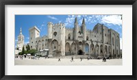 Framed People in front of a palace, Palais des Papes, Avignon, Vaucluse, Provence-Alpes-Cote d'Azur, France