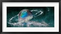 Framed Earth in star field