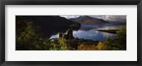 Framed Castle on a hill, Eilean Donan, Loch Duich, Highlands Region, Inverness-Shire, Scotland