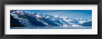 Framed Snowcapped mountains at College Fjord of Prince William Sound, Alaska, USA