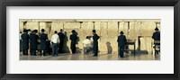 Framed People praying at Wailing Wall, Jerusalem, Israel