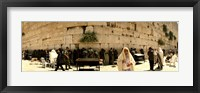 Framed People praying in front of the Wailing Wall, Jerusalem, Israel