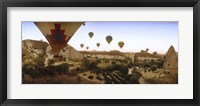 Framed Hot air balloons, Cappadocia, Central Anatolia Region, Turkey