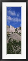 Framed Sculptures of US presidents carved on the rocks of a mountain, Mt Rushmore National Monument, South Dakota, USA