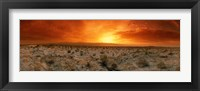 Framed Sunset over a desert, Palm Springs, California, USA